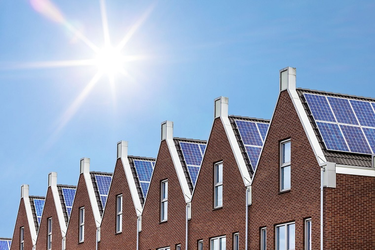 Zonnepaneel op het dak